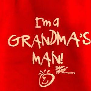 🇺🇸I'm a Grandma's Man! Red Lap tee, 100% cotton